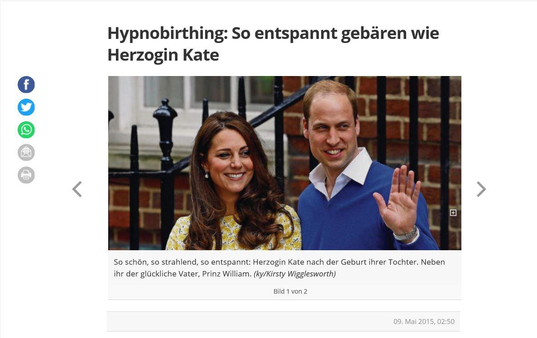 Hypnobirthing: So entspannt gebären wie Herzogin Kate