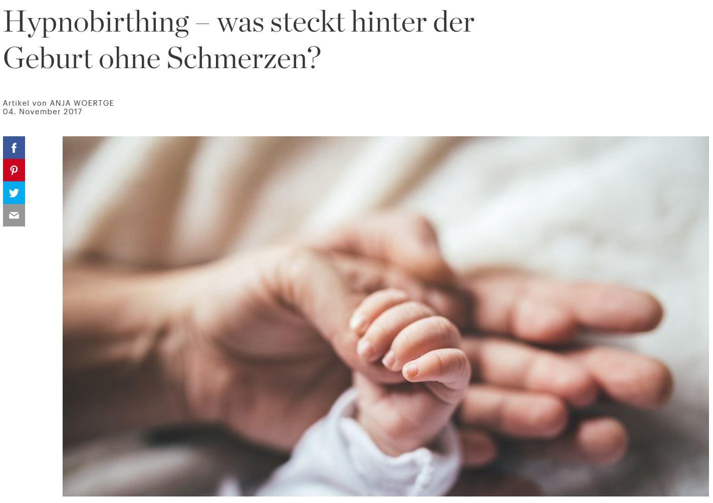 Hypnobirthing - was steckt hinter der Geburt ohne Schmerzen